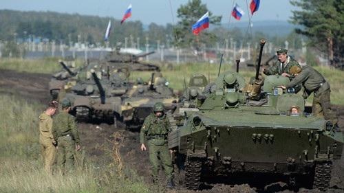 Một cuộc tập trận quân sự chung giữa Nga và Trung Quốc tại vùng Chelyabinsk của Nga Ảnh: RIA NOVOSTI