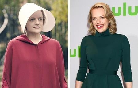 """Nữ diễn viên Elisabeth Moss đã giành được giải Emmy cho vai diễn xuất sắc trong phim """"The handmaid's tale"""". Và ở ngoài đời, khi không còn phải khoác lên mình bộ trang phục hầu gái đơn điệu, trông Elisabeth Moss càng tỏa sáng, xinh đẹp và quyến rũ hơn."""