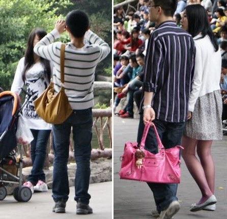 Nhiều phụ nữ nước ngoài đã bối rối khi thấy bạn trai sẵn sàng cầm túi xách cho mình