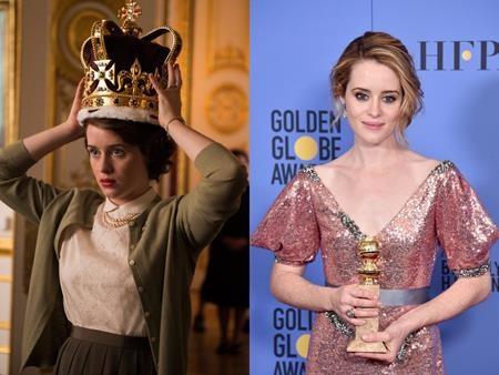 """Claire Foy đã tỏa sáng rực rỡ với vai diễn Nữ hoàng Elizabeth II trong bộ phim """"The crown"""" và chẳng có gì ngạc nhiên khi nữ diễn viên này đã xuất sắc giành được một giải Quả cầu vàng danh giá."""
