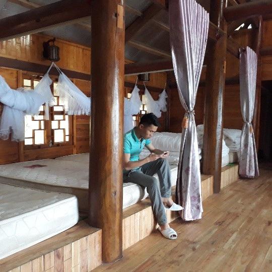 Phòng nghỉ Homestay của chị Mẩy thoáng mát, yên tĩnh đáp ứng yêu cầu nghỉ ngơi của khách du lịch