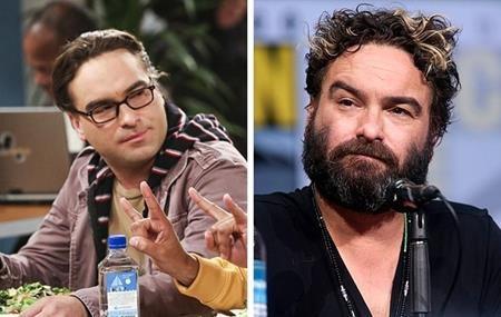 """Người bạn diễn Johnny Galecki của Mayim Bialik trong """"The Big Bang theory"""" ở ngoài đời lại có phần râu tóc rậm rạp hơn."""