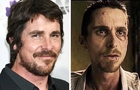 """Nổi tiếng với những vai diễn ấn tượng, Christian Bale đã thêm một lần khiến khán giả nổi gai ốc với màn hoá thân thành Trevor Reznik trong phim """"The machinist"""""""