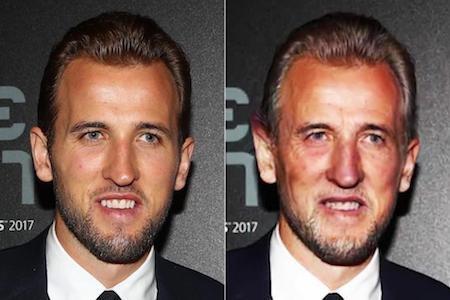 Tiền vệ NGolo Kante của Chelsea thì không thay đổi quá nhiều, trừ gương mặt có vài nếp nhăn và mái đầu điểm bạc. Thiết nghĩ, Kante hoàn toàn có thể cảm thấy hài lòng với vẻ ngoài khi về già của mình.