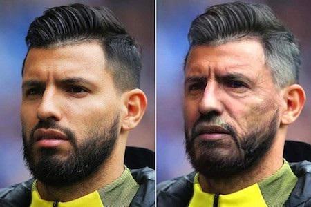 Hiện tại thì đám râu quai nón của Sergio Aguero trông vẫn khá nam tính, bụi bặm. Tuy nhiên, có lẽ khi về già, tiền đạo của Man xanh nên cân nhắc tới việc cạo râu để trông đứng đắn, đạo mạo hơn.