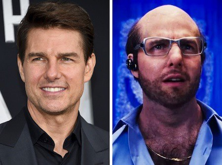 """Hoá thân thành nhân vật Les Grossman trong """"Tropic thunder"""", Tom Cruise đã hoàn toàn bỏ lại vẻ điển trai, lãng tử ở bên ngoài khung hình"""