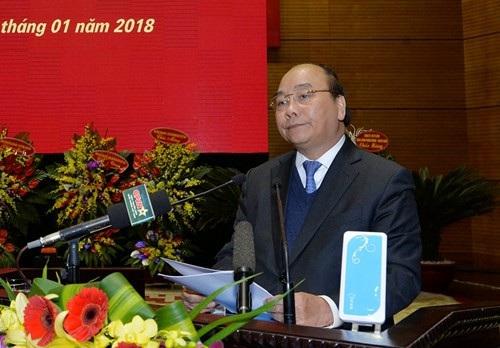 Thủ tướng Chính phủ Nguyễn Xuân Phúc phát biểu chỉ đạo buổi lễ.