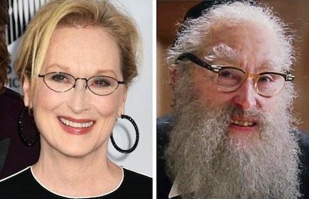 """Tham gia bộ phim """"Angels in America"""" (Những thiên thần của nước Mỹ) nhưng Meryl Streep lại chẳng được hoá trang cho xinh đẹp, lộng lẫy mà còn trở nên râu tóc bạc phơ như thế này"""