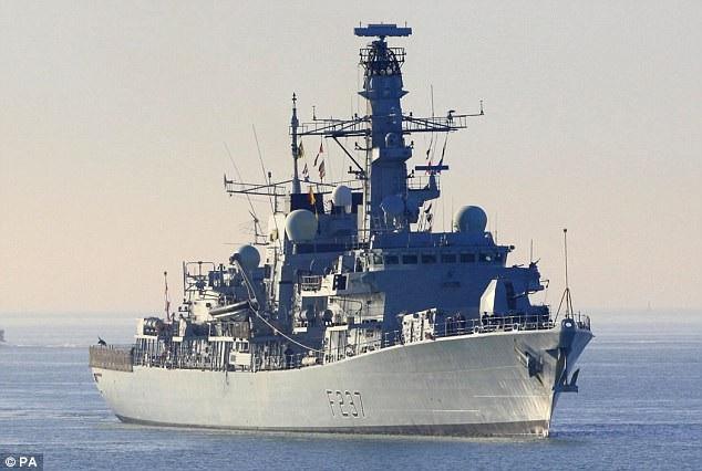 Tàu khu trục HMS Westminster. (Ảnh: PA)