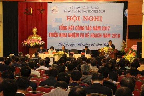 Hội nghị tổng kết tại Tổng cục Đường bộ Việt Nam chiều 2/1