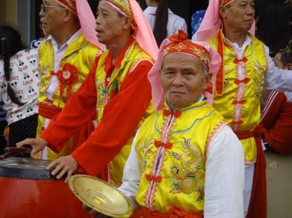 Các nghệ nhân biểu diễn trong ngày khai mạc Tết Việt 2018.