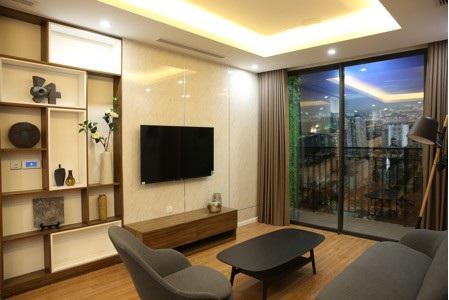Một góc phòng khách trong căn hộ mẫu Hinode City