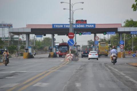 Trạm thu phí Sông Phan của dự án BOT Quốc lộ 1 đoạn Phan Thiết - Đồng Nai. Ảnh: Báo Đầu tư