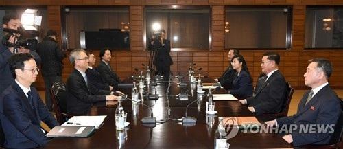 Đàm phán cử đoàn nghệ thuật Triều Tiên tới Hàn Quốc diễn ra hôm 15/1. (Ảnh: Yonhap)