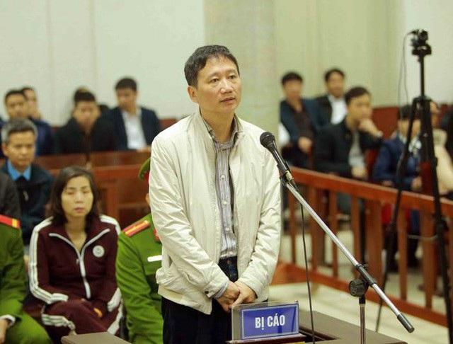 Trịnh Xuân Thanh, cựu Chủ tịch PVC tiếp tục hầu toà về tội tham ô tài sản.