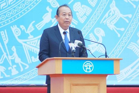Phó Thủ tướng Chính phủ Trương Hòa Bình tại Lễ ra quân Năm ATGT 2018