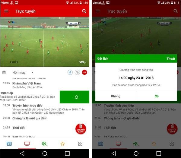 """Hướng dẫn xem trực tiếp """"trận cầu lịch sử"""" của U23 Việt Nam trên smartphone và máy tính - 2"""