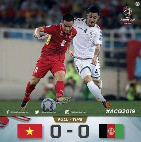 Trận hòa trước Afghanistan giúp Việt Nam có vé tham dự Asian Cup 2019