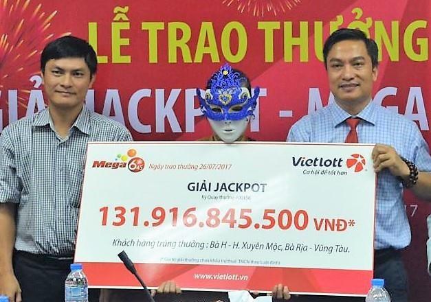 Giải cao nhất người trúng nhận được năm 2017 là 131,9 tỷ đồng.