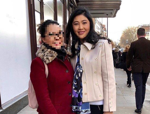 Hình ảnh mới nhất của bà Yingluck khi xuất hiện ở London. (Ảnh: Twitter)
