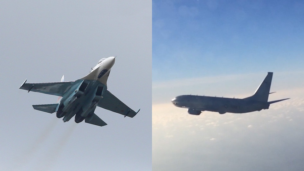 Khoảnh khắc chiến đấu cơ Nga chặn máy bay trinh sát Mỹ trên biển