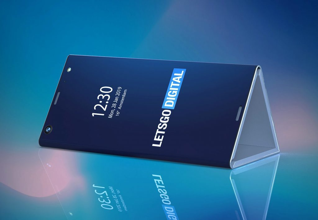 """Concept smartphone màn hình gập của Intel có thể """"hóa thân"""" thành kim tự tháp"""