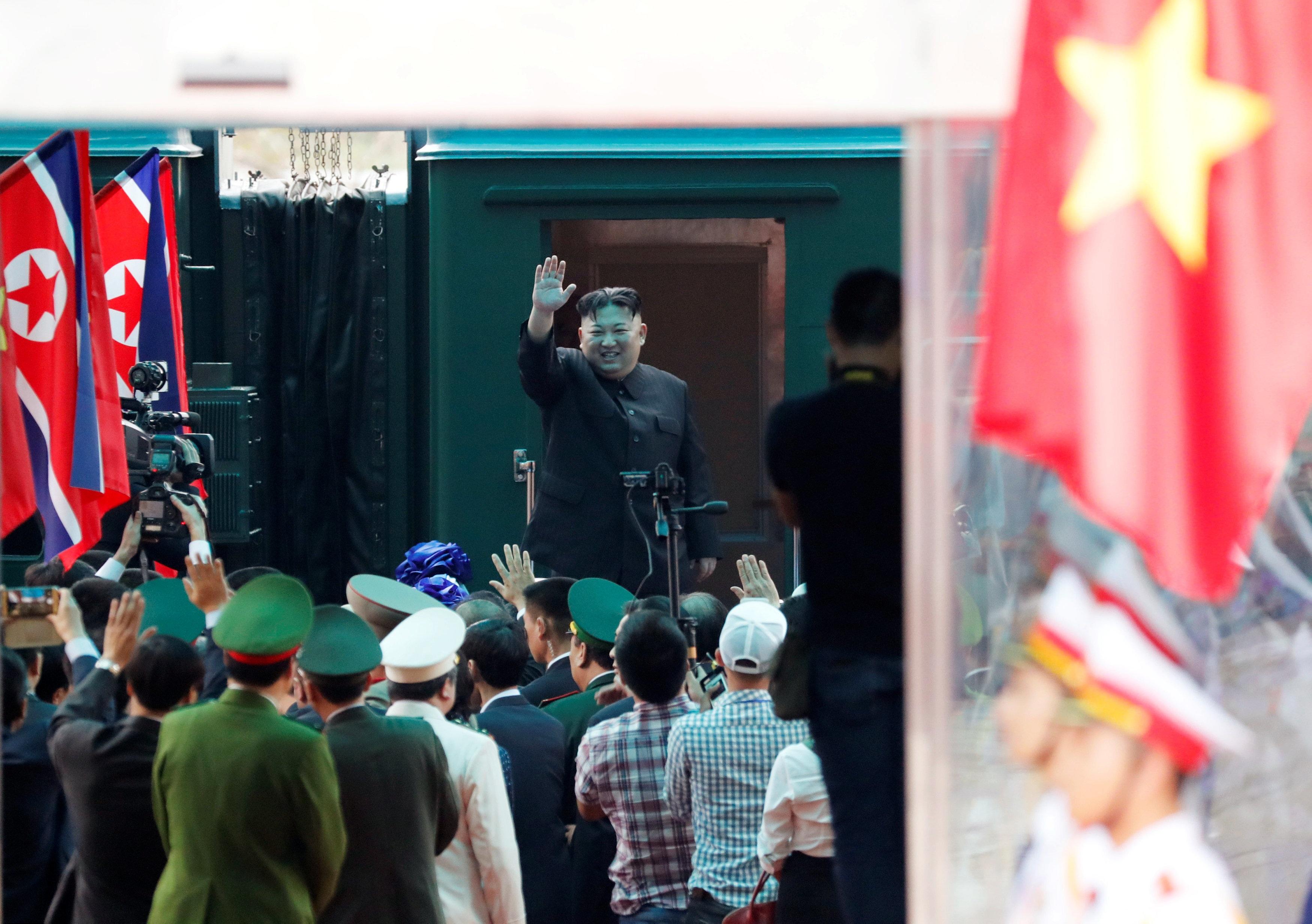 Tàu bọc thép chở ông Kim Jong-un băng qua miền trung Trung Quốc