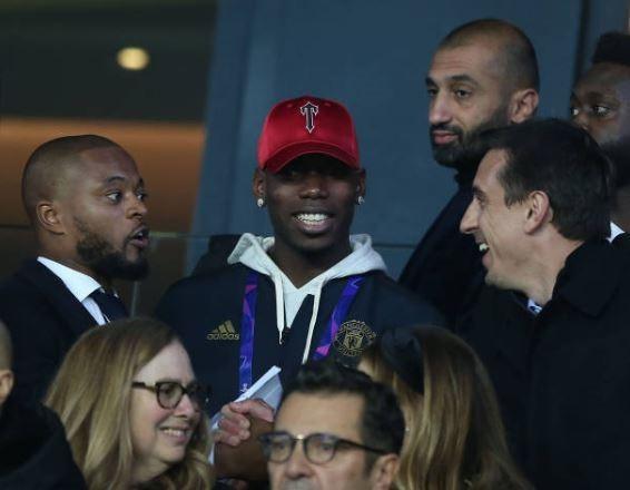 Pogba, Neymar cùng dàn khách VIP trên khán đài chứng kiến MU hạ PSG