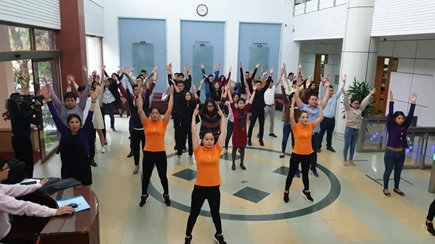 Bộ Văn hoá yêu cầu công chức tập thể dục mỗi ngày 2 lần, trong giờ làm việc