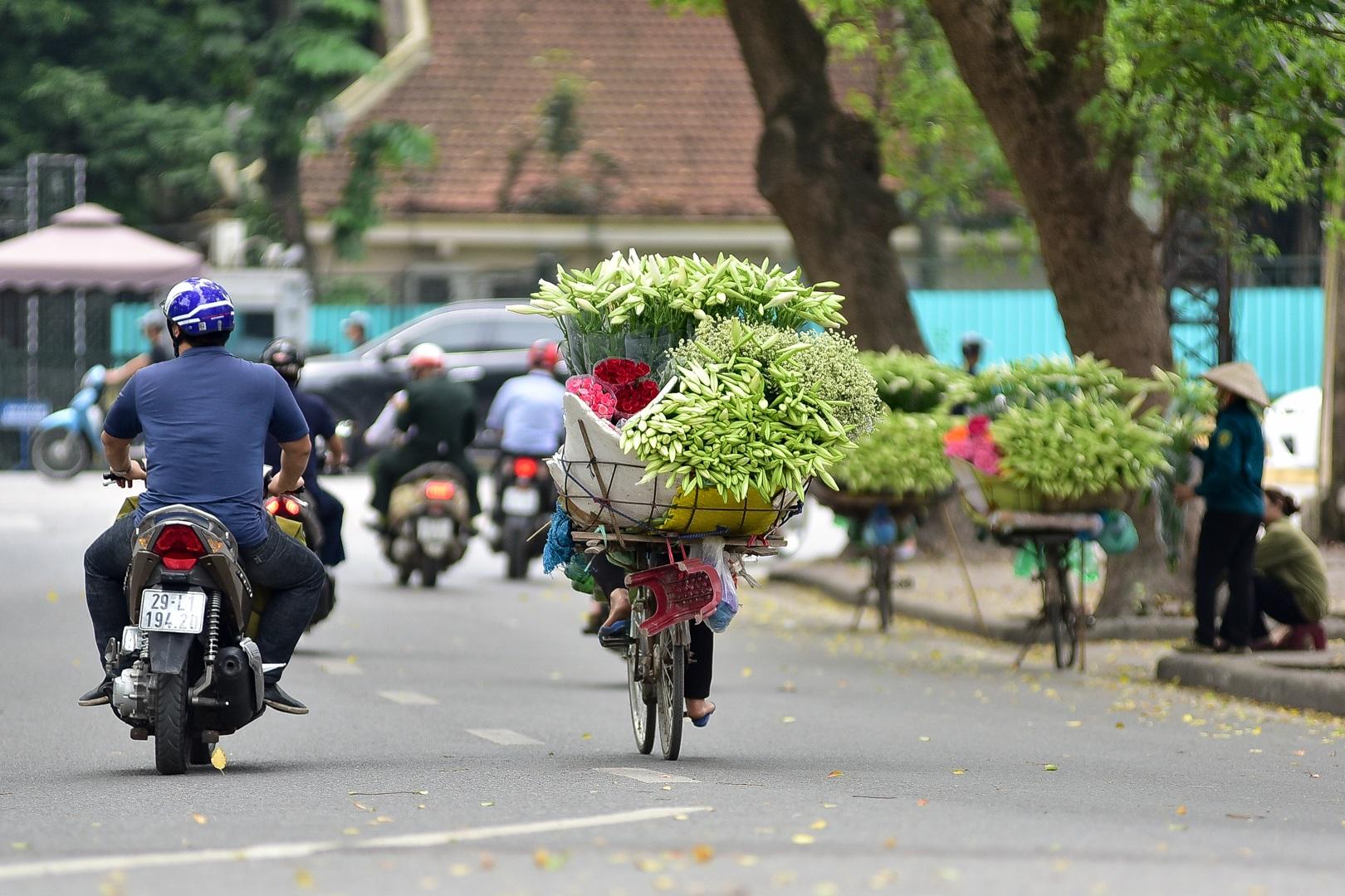 Tháng tư về, hoa loa kèn tinh khôi xuống phố Hà Nội - 9
