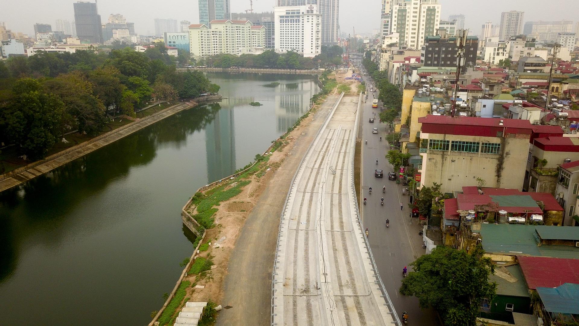 Metro Nhổn - ga Hà Nội thành hình đường trên cao xuyên qua phố phường Thủ đô - 15