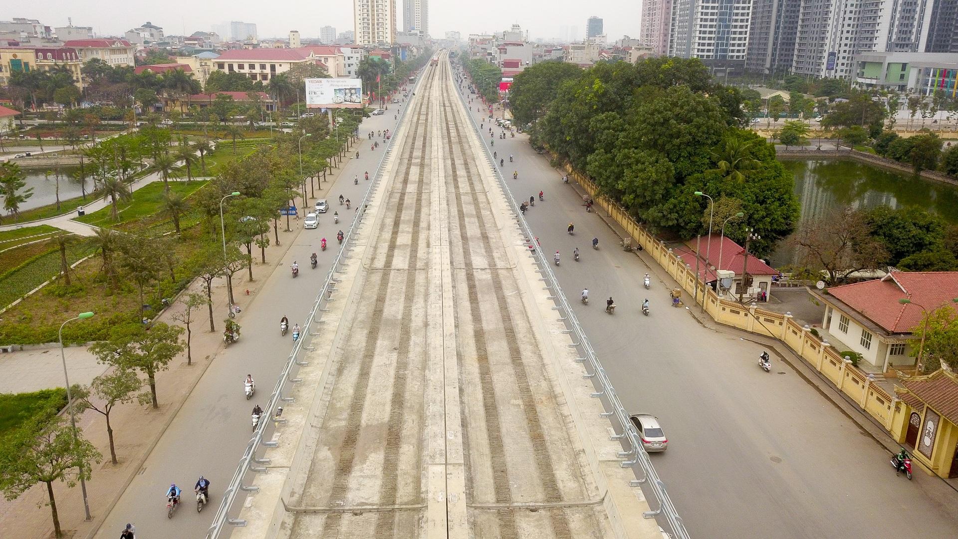 Metro Nhổn - ga Hà Nội thành hình đường trên cao xuyên qua phố phường Thủ đô - 2