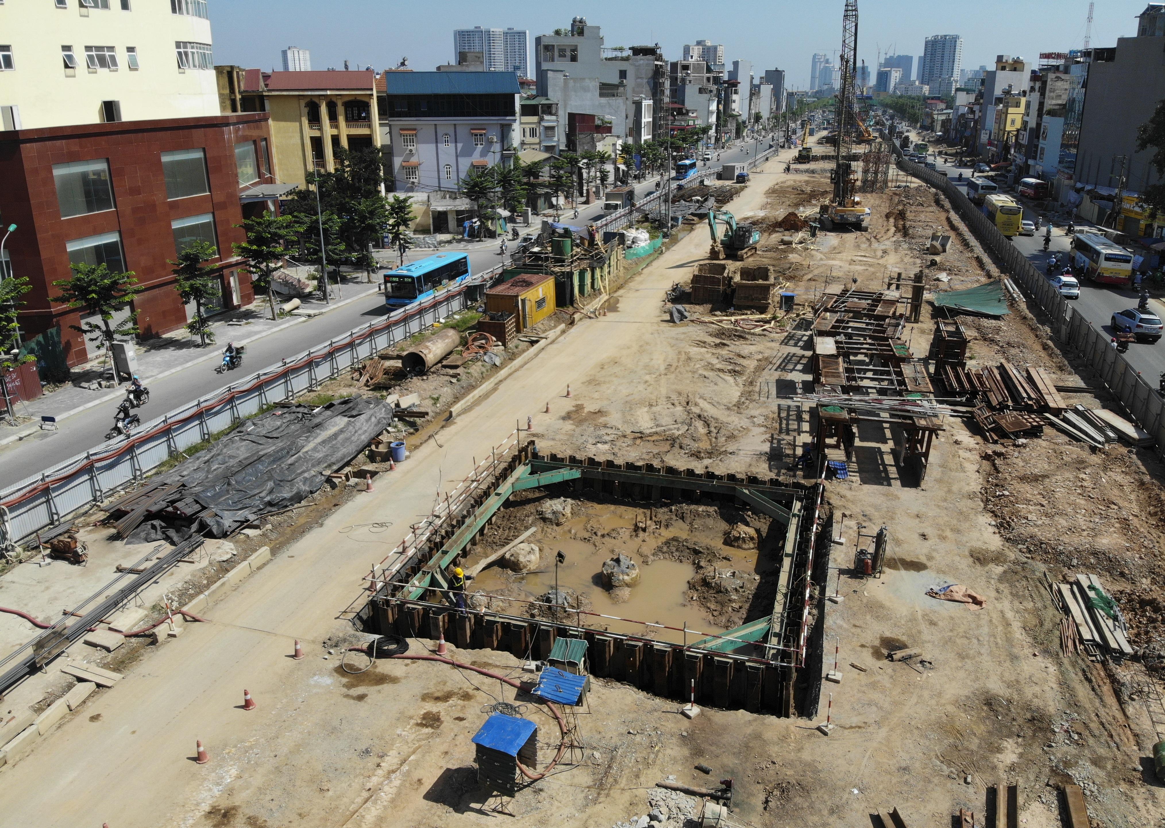 Toàn cảnh đại công trường đường 8.500 tỷ đồng ở cửa ngõ Hà Nội - 5