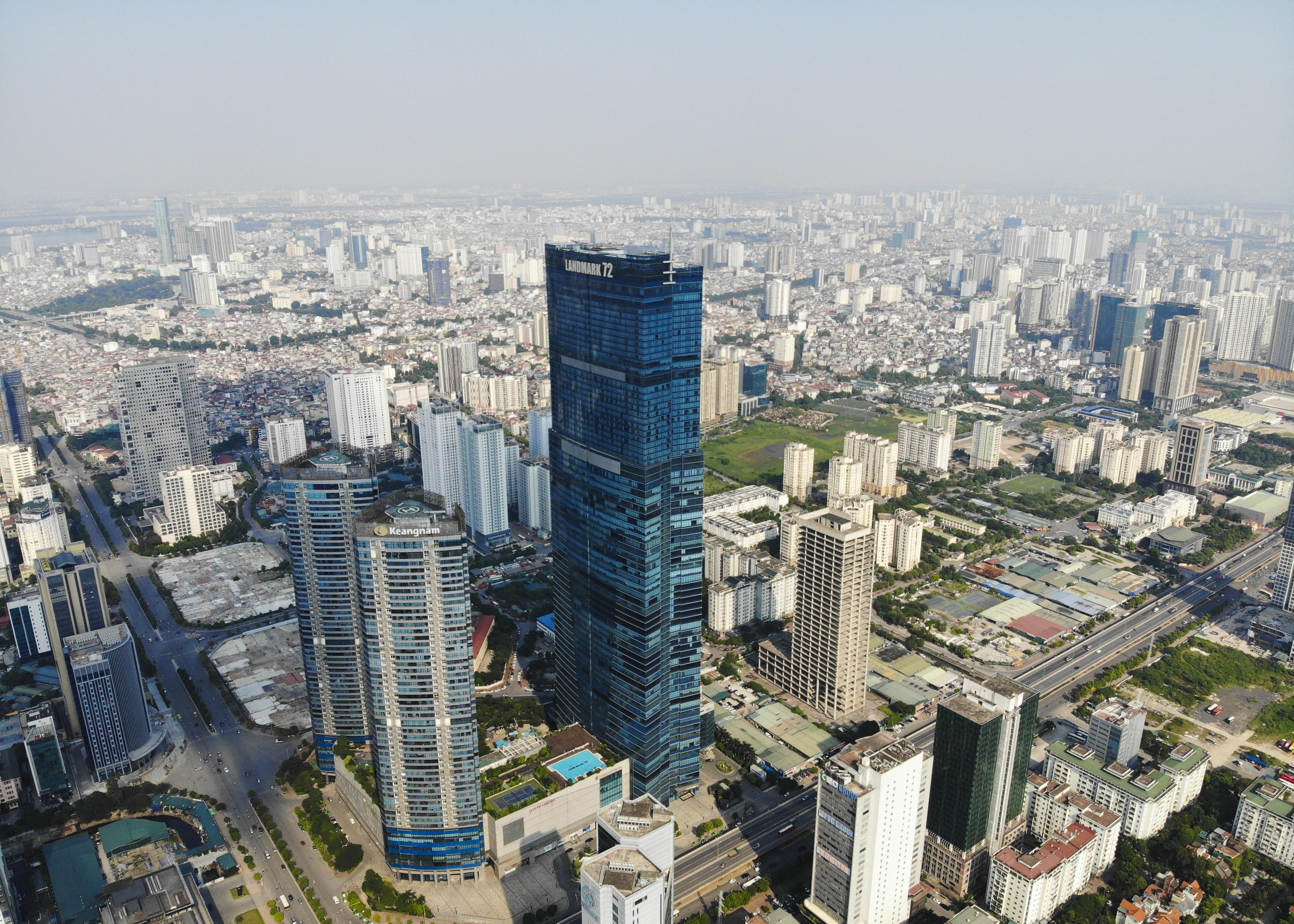 Những hình ảnh của 4 tòa nhà cao nhất Hà Nội nhìn từ trên cao - 1