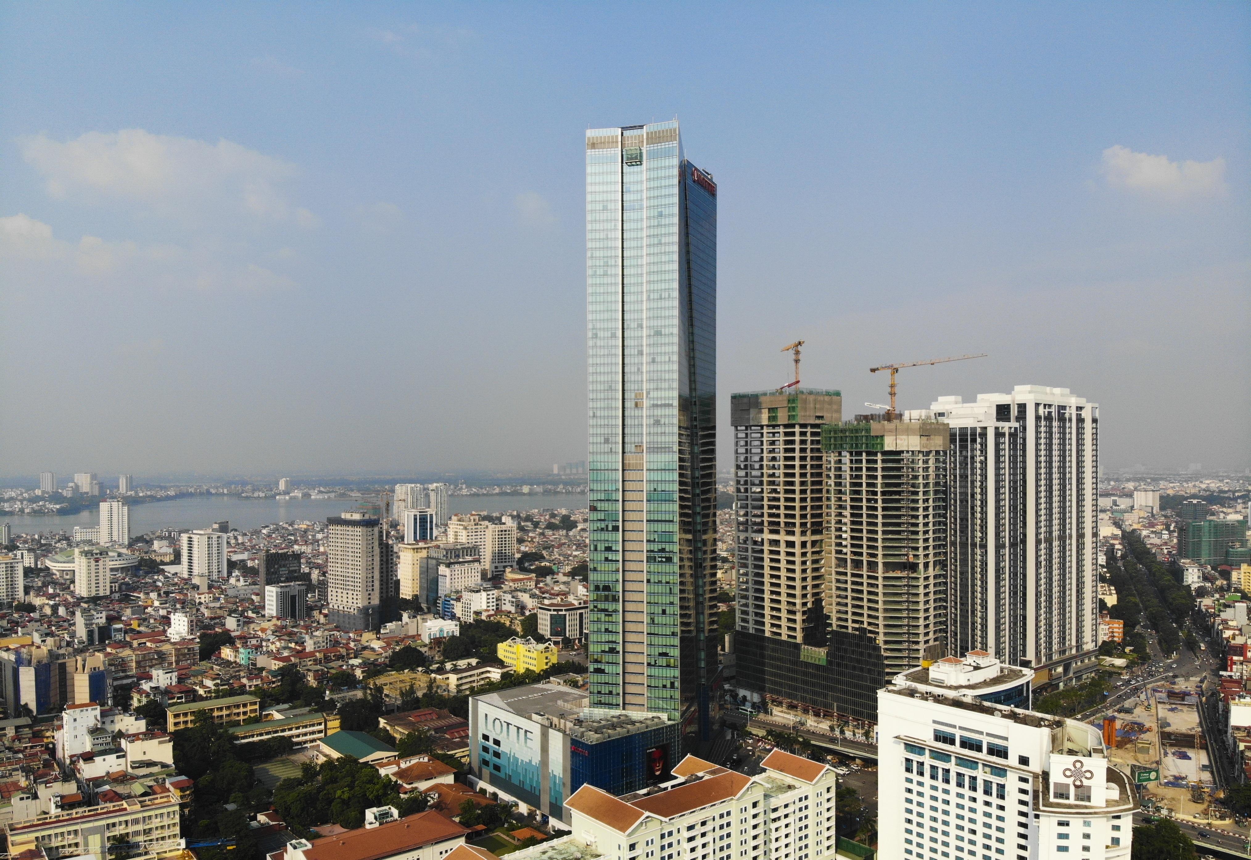 Những hình ảnh của 4 tòa nhà cao nhất Hà Nội nhìn từ trên cao - 6