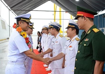 Lễ đón đoàn tàu Hải quân Thái Lan FFG 471 tại cảng Tiên Sa.