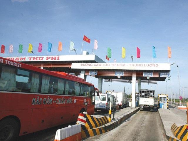 Trạm thu phí trên cao tốc TPHCM-Trung Lương.