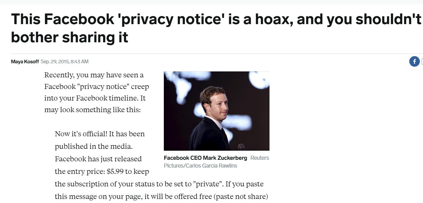 Cảnh giác với những bài viết thông báo bảo mật chia sẻ tràn lan trên Facebook - Ảnh 2.