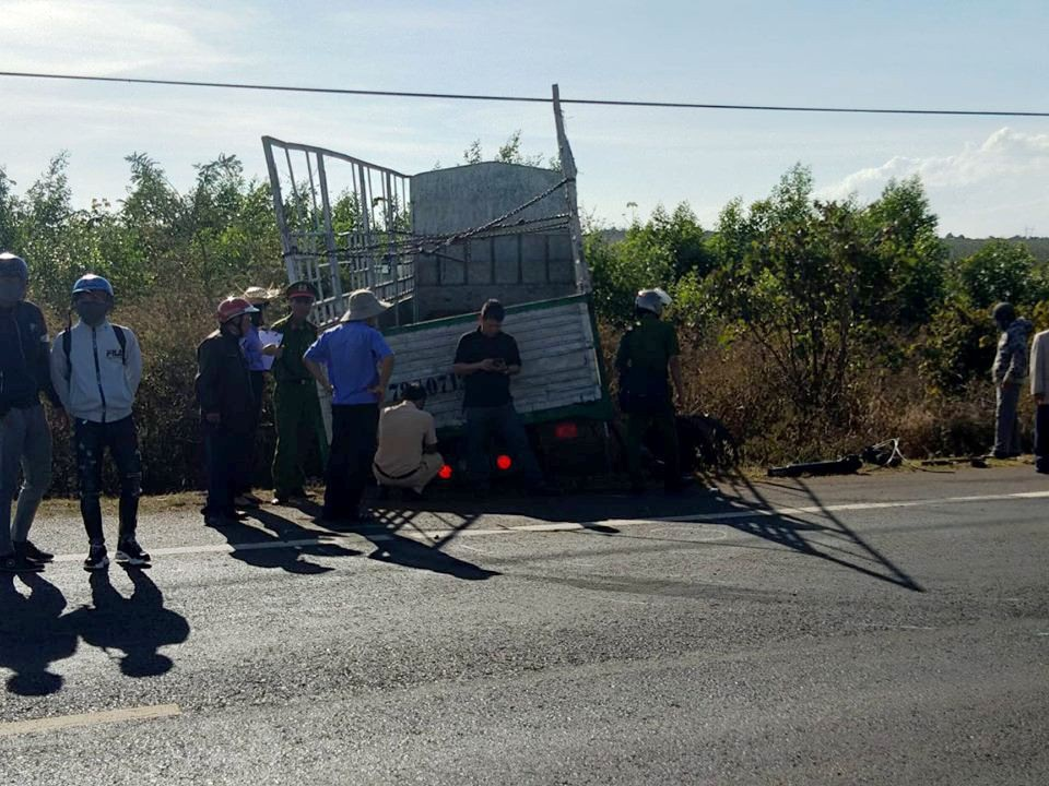 Va chạm với xe tải, 3 chị em họ tử nạn trên đường lên thành phố - Ảnh 1.