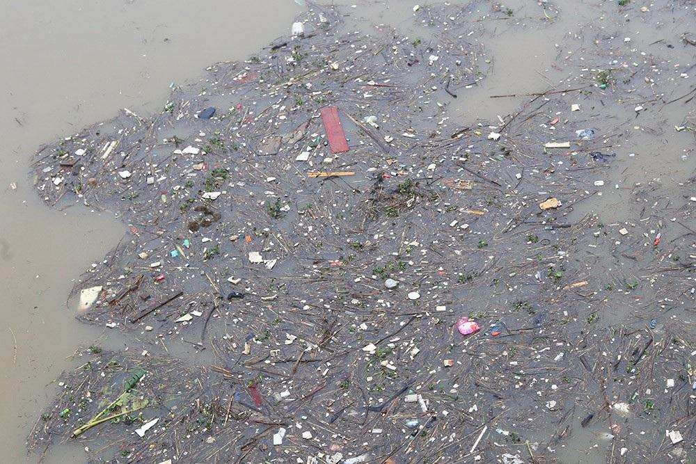 Hà Nội: Sông Hồng xuất hiện nhiều củi rác trôi dạt - Ảnh 5.