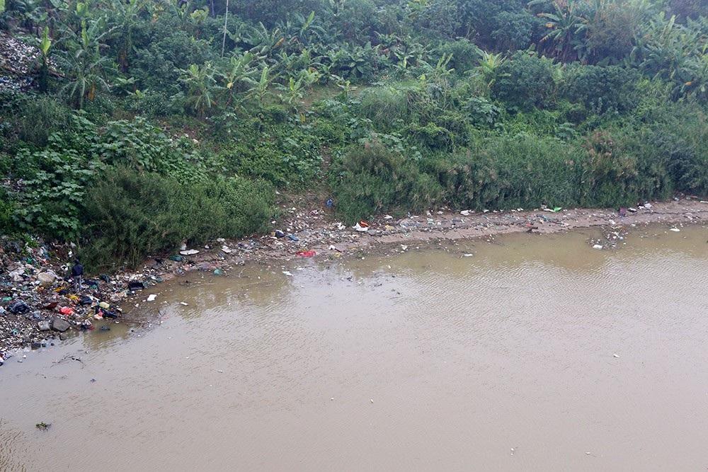 Hà Nội: Sông Hồng xuất hiện nhiều củi rác trôi dạt - Ảnh 9.