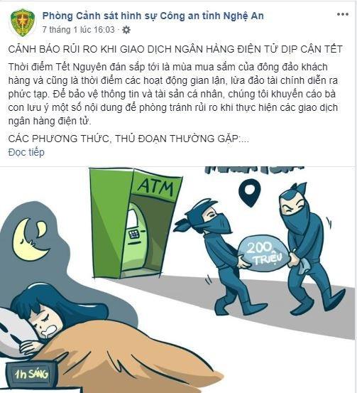 Cảnh sát Hình sự đăng đàn cảnh báo rủi ro khi giao dịch ngân hàng điện tử dịp Tết - Ảnh 1.