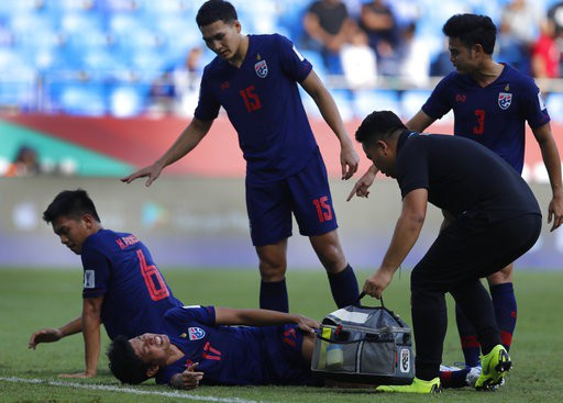 Những khoảnh khắc chiến thắng ngọt ngào của Thái Lan trước Bahrain - Ảnh 7.