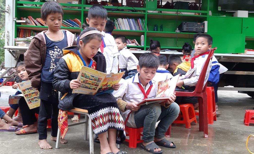 """""""Thư viện di động"""" đến với học sinh vùng cao - Ảnh 4."""