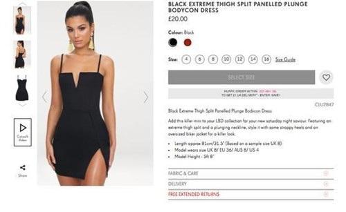 Cô gái hết hồn khi diện thử váy xẻ được mua online - Ảnh 1.