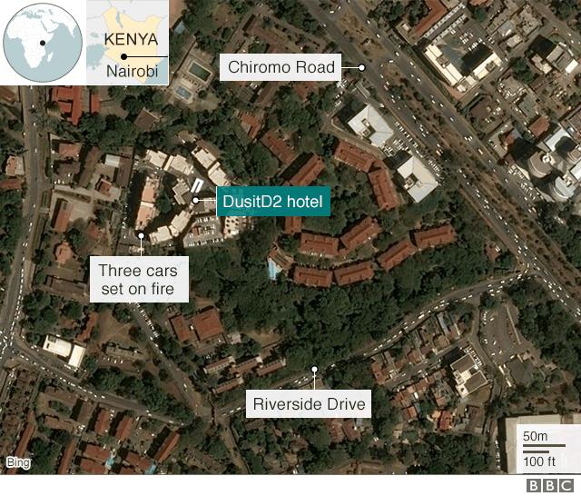 Khách sạn sang trọng chìm trong khói lửa do bị khủng bố, 15 người chết - Ảnh 2.