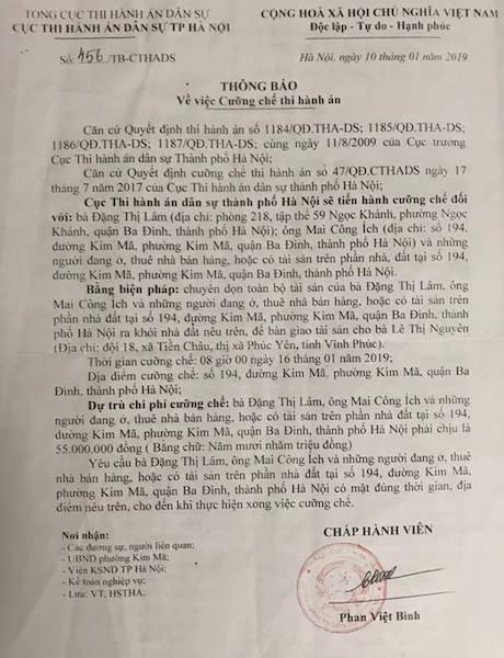 Cưỡng chế thi hành án nhà 194 Kim Mã: Người dân điêu đứng, ai sẽ chịu trách nhiệm? - Ảnh 4.