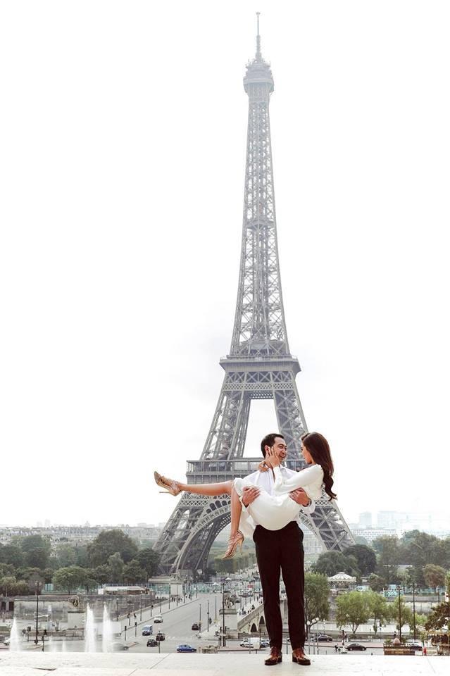 Bộ ảnh cưới ngọt ngào của Lan Khuê và ông xã đại gia tại Paris, Pháp.