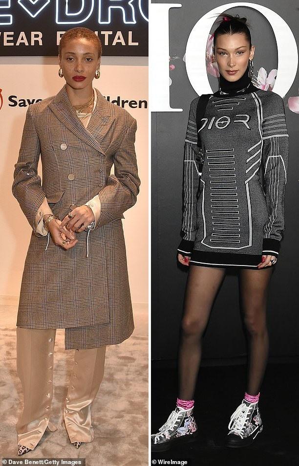 Á quân do giới chuyên môn bình chọn là người mẫu Anh Adwoa Aboah (26 tuổi - trái). Á quân do công chúng bình chọn là người mẫu Mỹ Bella Hadid (22 tuổi - phải).