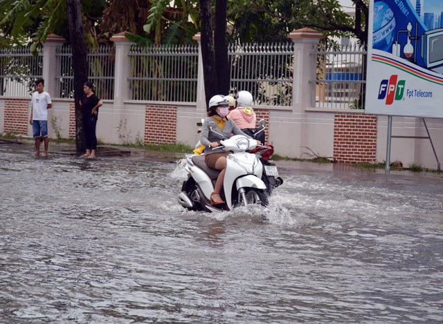 Ảnh hưởng bão số 1, Bạc Liêu - Cà Mau ngập nặng vì mưa lớn - 9